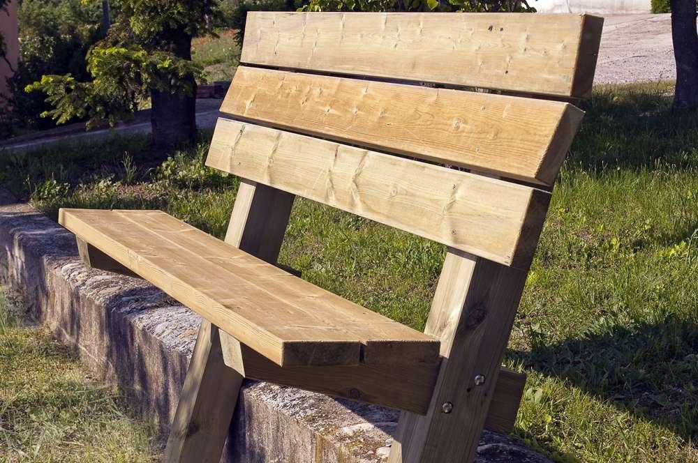 Bancos rusticos de madera dupi prefabricats - Bancos de madera rusticos ...
