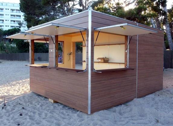 Chiringuitos de madera prefabricados dupi prefabricats for Caseta jardin segunda mano